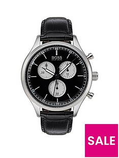 boss-companion-black-dial-black-leather-strap-mensnbspwatch