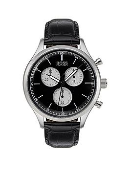 hugo-boss-black-companion-black-dial-black-leather-strap-mensnbspwatch