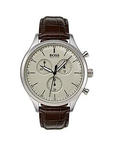 hugo-boss-black-companion-beige-dial-brown-leather-strap-mensnbspwatch