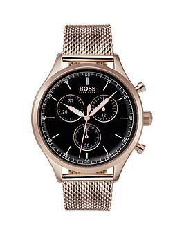 boss-companion-black-enamel-dial-mesh-bracelet-mensnbspwatch