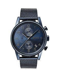 hugo-boss-black-1513538nbspnavigator-bluenbspdial-blue-stainless-steel-bracelet-mens-watch