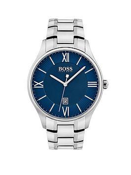 hugo-boss-black-1513487-governor-blue-dial-stainless-steel-braceletnbspmens-watch