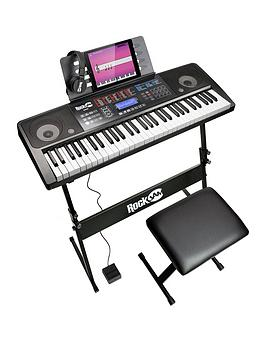 rockjam-rj761-sk-rockjam-61-key-midi-keyboard-piano-kit-with-keyboard-stand-piano-stool-sustain-pedal-and-headphones
