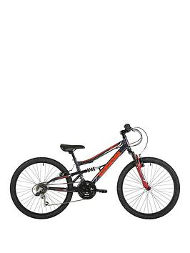 Barracuda Kids' Draco Ds BAR1801 Wheel Full Suspension Mountain Bike, Grey, 24 Best Price and Cheapest