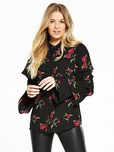 v-by-very-ruffle-long-sleeve-print-blouse