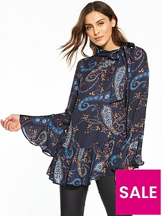 v-by-very-printed-asymmetricnbspfluted-sleeve-blouse