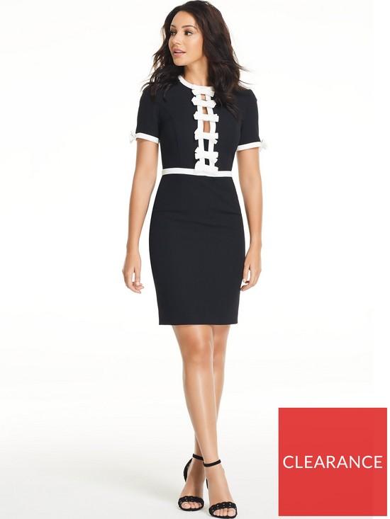 8d1998b28493d Michelle Keegan Satin Trim Bow Dress | very.co.uk