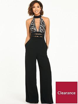 myleene-klass-lace-plunge-jumpsuit-black
