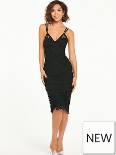 myleene-klass-strap-detail-lace-bodycon-dress-black
