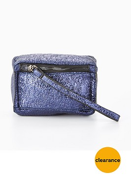 v-by-very-mini-box-wristlet-clutch-crackle-metallic