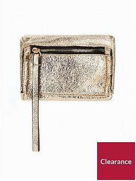 v-by-very-mini-box-wristlet-clutch-crackle-metallic