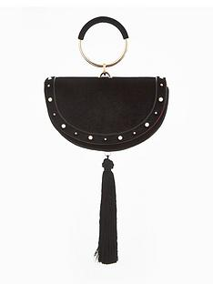 v-by-very-half-moon-statement-tassle-wristlet-bag