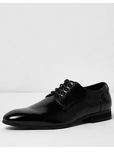 river-island-patent-embossed-shoe
