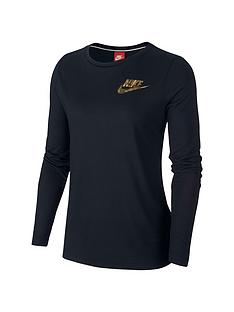 nike-sportswear-metallic-shine-essential-longsleeve-top