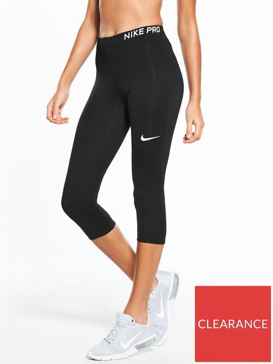 sale retailer 5ffd9 c9367 Nike Training Pro Capri Legging - Black