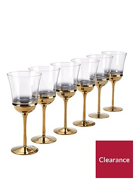 ideal-home-gold-ombre-glasses-ndash-6-piece-set