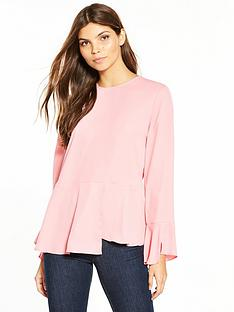 warehouse-peplum-hem-top
