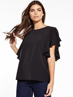 warehouse-ruffle-top