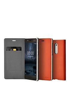 nokia-nokia-slim-flip-case-cp-302-for-nokia-5-brown-copper