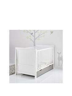 obaby-stamford-cot-bed-white-amp-taupe-grey