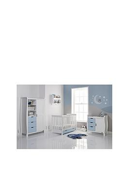 obaby-stamford-mini-3-piece-furniture-set-white-amp-bon-bon-blue