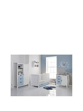 obaby-stamford-3-piece-furniture-set-white-amp-bon-bon-blue