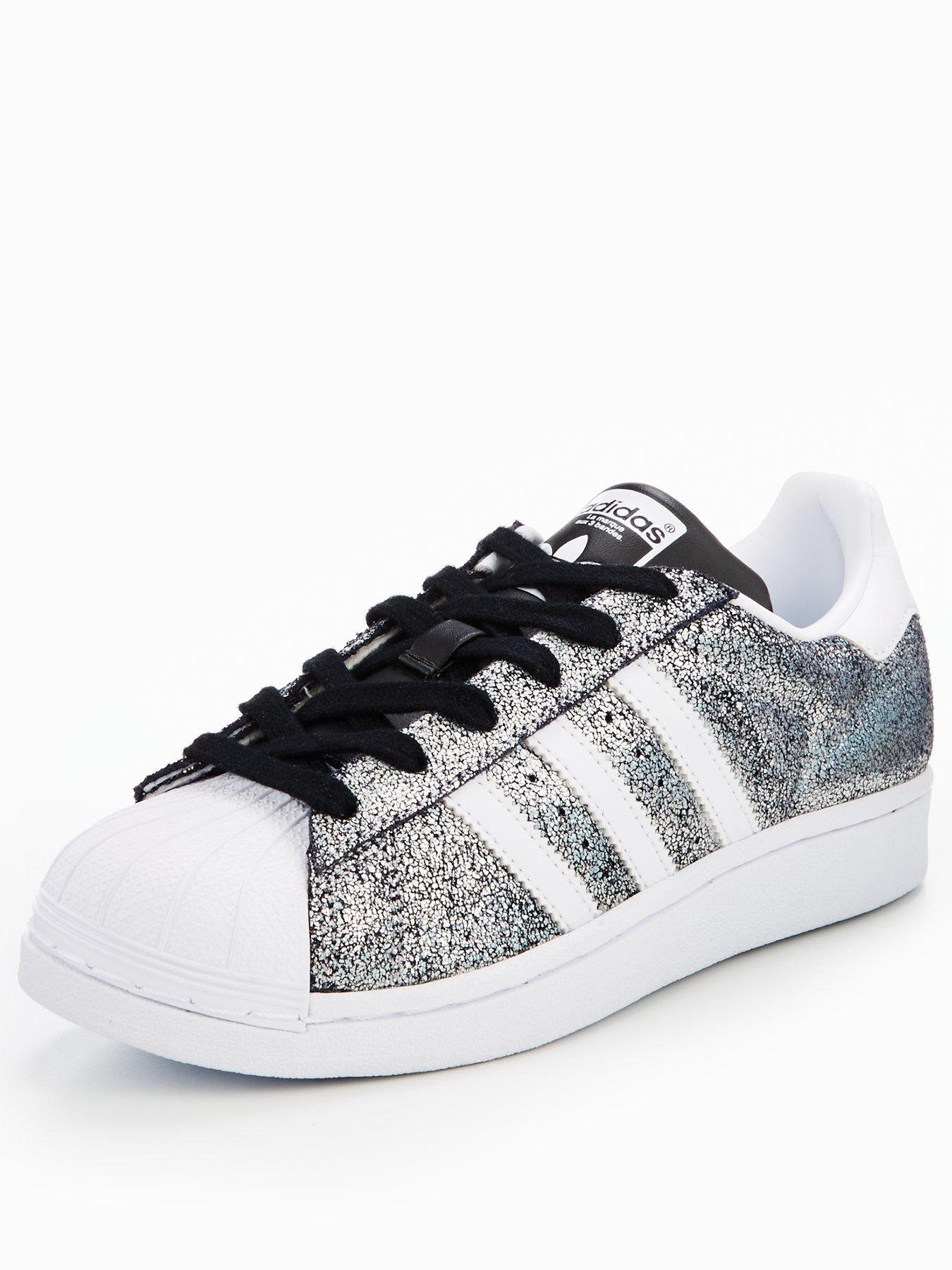 adidas glitter superstar trainers