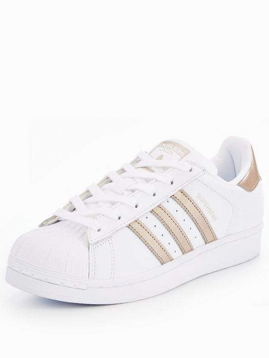 grossiste 604fc 6c39f Superstar - White/Gold