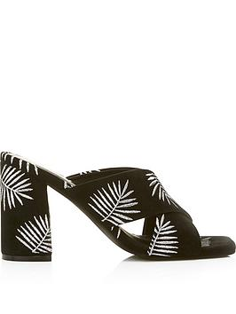 sol-sana-ginny-palm-print-embroidered-mules-black