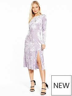 miss-selfridge-nbspvelvet-midi-dress