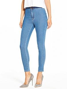 miss-selfridge-high-waistnbspsteffi-skinny-jean-stone-washnbsp