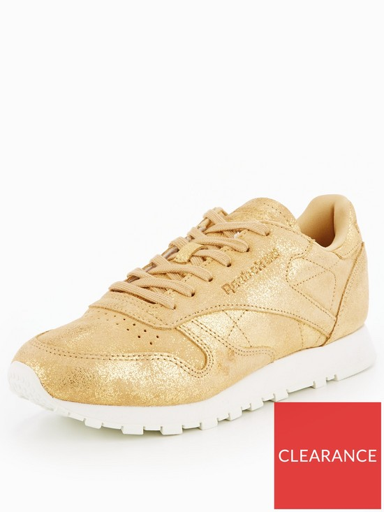 Reebok Classic Leather Shimmer - Gold  646a2760dbfd