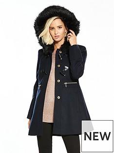 miss-selfridge-duffle-coat-navynbsp