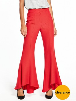 v-by-very-flared-hem-trouser-red