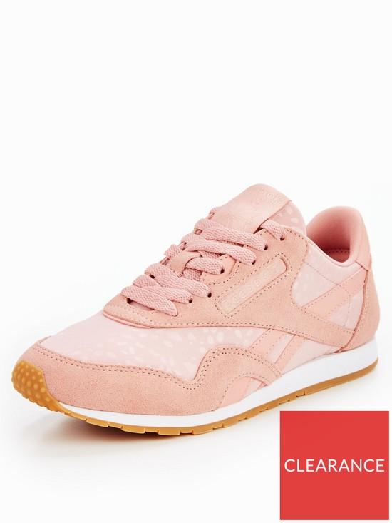 c59fed4e9137 Reebok Classic Nylon Slim Text Lux - Pink