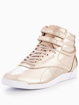 Reebok Classic Freestyles Hi Metallic - Rose Gold