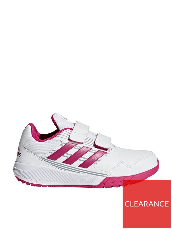 b982499f11f2b0 adidas AltaRun CF Childrens Trainers - White Pink