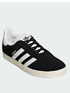 buy popular 7e39b 463d7 adidas Originals Gazelle Junior Trainer - Black