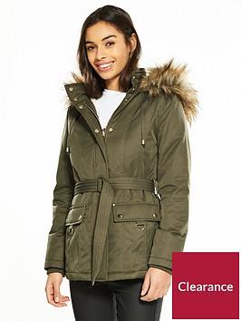 miss-selfridge-petite-faux-fur-hooded-parka