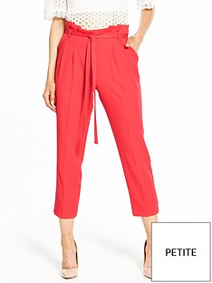 miss-selfridge-petitenbsppaperbagnbspcropped-trouser