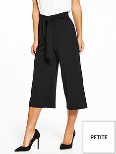 miss-selfridge-petite-culotte-trouser-black
