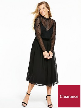 v-by-very-lace-velvet-trim-midi-dress