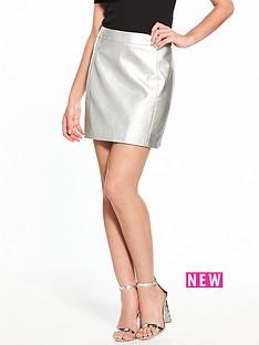 oasis-faux-leather-mini-skirt