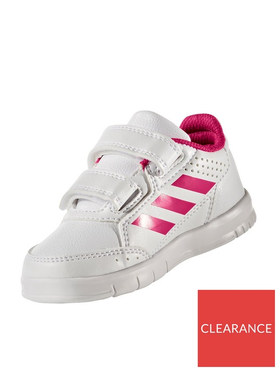 997fc763206a5d adidas AltaSport CF Infant Trainers - White Pink