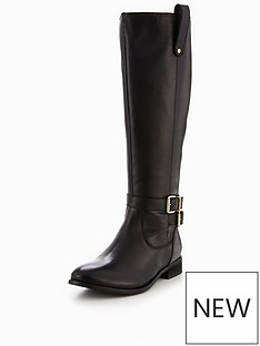 v-by-very-clarissa-leather-gold-buckle-knee-high-boot-black