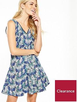 oasis-parrot-jacquard-dress