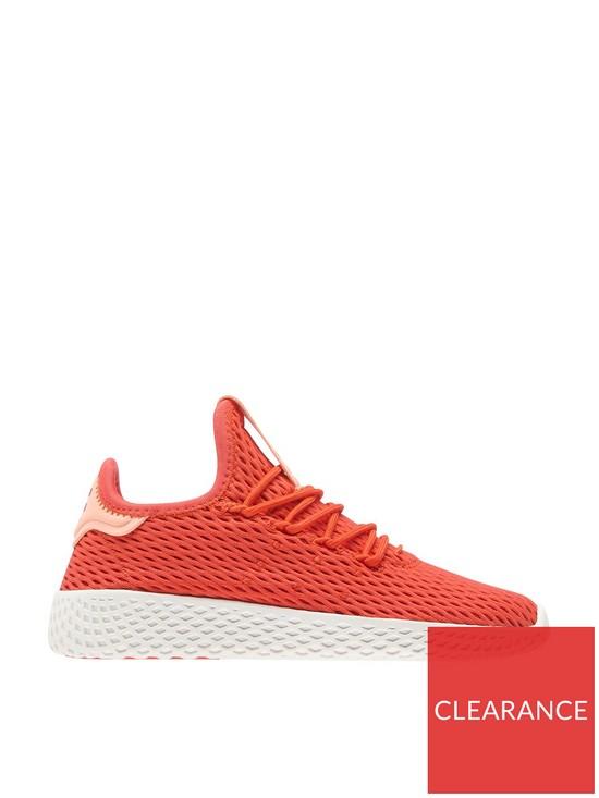 5d08f9fa0e85 adidas Originals PW Tennis HU Childrens Trainer - Red White