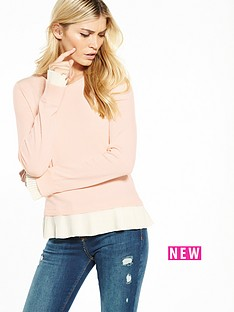 oasis-oasis-pleated-neck-amp-cuff-knit-jumper