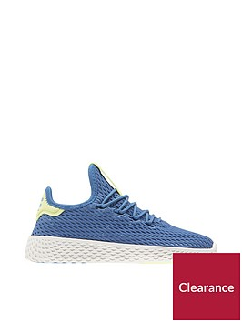 adidas-originals-pharrellnbspwilliams-tennis-childrens-trainer-bluewhitenbsp