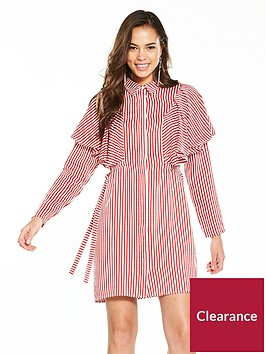 v-by-very-striped-cotton-frill-shirt-dress